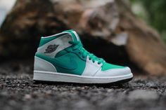 "Air Jordan 1 Retro Mid ""Lush Teal"" #jordan"