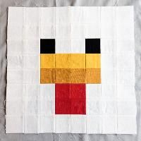 Minecraft Quilt Block - Chicken