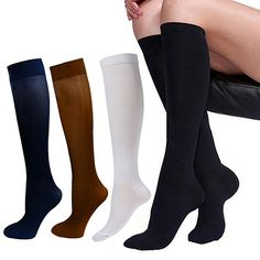 Men's Women's Anti-Fatigue Knee High Stockings Nylon Compression Support #Affiliate