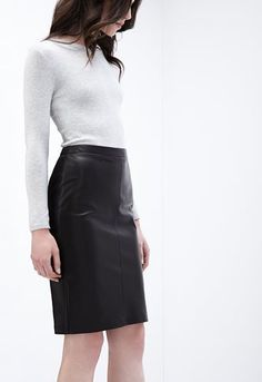 alice-lamb-leather-pencil-skirt Classic Leather, Leather Fashion, Lamb, Dress Skirt, Leather Skirt, Alice, Skirts, Official Store, Dresses
