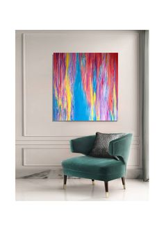 """""""Aguamenti"""" A modern contemporary painting in a classic interior. Contemporary Paintings, Modern Contemporary, Classic Interior, Blue Abstract, Tapestry, Artist, Artwork, Home Decor, Hanging Tapestry"""