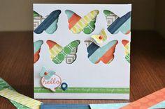 Washi tape behind butterflies