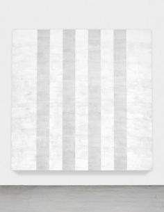 """Mary Corse """"Untitled (Four White Inner Bands, Beveled),"""" 2011, Glass Microspheres in Acrylic on Canvas, 9' (H) X 9' (W)"""