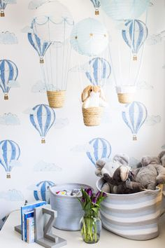 Hot air balloon wallpaper + nursery decor