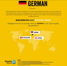 German as an official language.