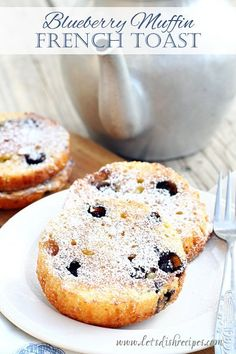 Blueberry Muffin French Toast @FoodBlogs