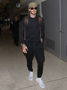 David Beckham catches a flight at LAX #davidbeckham #lax #adidas
