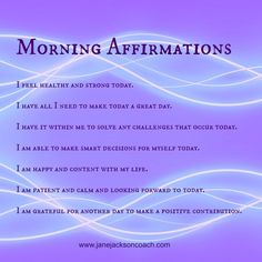 Morning Affirmations for a GREAT day!