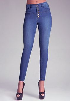 bebe High-Waist Skinny Jeans