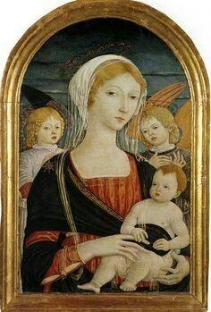 Matteo di Giovanni, Madonna col Bambino e Angeli 1470 ca ...