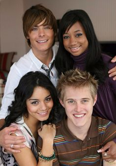 The High School Musical Cast High School Musical Quotes, High School Musical Cast, Troy Bolton, Disney Channel Original, Disney Channel Stars, Monique Coleman, Zac Efron And Vanessa, Cute Disney Pictures, What Team
