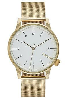 Eine Uhr im zeitlosen Design! Komono WINSTON ROYALE - Uhr - goldfarben/weiß für 89,95 € (24.11.16) versandkostenfrei bei Zalando bestellen.