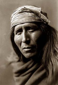 This is Tsahizn Tseh, an Apache man. Photo taken in 1906 by Edward S. Curtis.