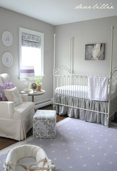 DIY Pretty nursery Makeover om a Budget! Full Tutorials, and Tips! by Dear Lillie