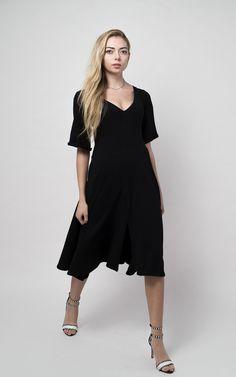 arkins sustainable organic black dress