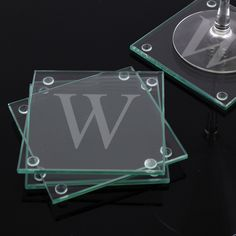 Custom Engraved Glass Coasters (Set of 4) | Overstock.com