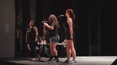 """This is Eva Crespin, Mercedez Holtry, and Gigi Bella from Albuquerque's """"ABQ Slam"""" Team' performing in the 2016 Group Piece Finals at the National Poetry … Spoken Word Poetry, Slam Poetry, Ted Talks, Slammed, Pregnancy, Cards Against Humanity, Concert, Finals, Mental Health"""