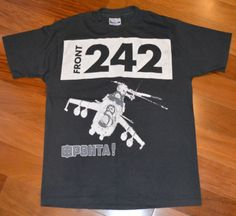 RARE 1980s Front 242 Vintage Electro Techno Concert T Shirt L Wax Trax Records | eBay