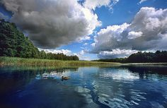 Mazury Summer Clouds No 1 by Martin Liebermann Small Lake, Lake District, Places To See, National Parks, Scenery, Clouds, Summer, 1 Image, Outdoor