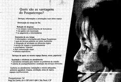 Anúncio da inauguração do Poupatempo no dia 20 de outubro de 1997