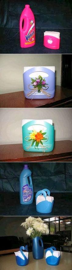 DIY : Plastic Bottle Napkin Holder