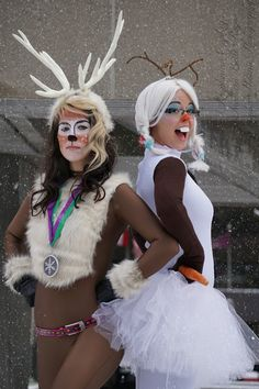 Olaf & Sven from Frozen Cosplay http://geekxgirls.com/article.php?ID=5181