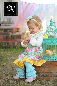 Boutique Posh Easter Chevron Headband M2M Matilda Jane Trellis Shabby Roses Pink, Blue, Ivory, Yellow, Spring Hair Fascinator Photo Prop. $18.00, via Etsy.