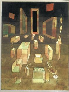 Paul Klee - Uncomposed in Space, 1929, as seen on the cover of the Blackwell translation of Henri Lefebvre's The Production of Space, 1991.