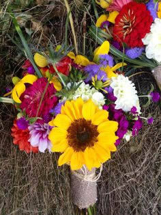 Garden mix bouquet from locally grown blooms