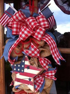 Patriotic teardrop from Southern and Sassy Door Decor and More on Facebook