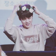 jimin flower crown