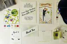 Illustrated Invitations for Every Style Wedding | OneWed