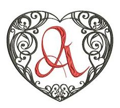 Welcome to Betty''s Original Embroideries - Amazing Designs Affordable Prices heart alpha