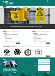Empresa NEO LIMP: Site da empresa em processo de desenvolvimento.