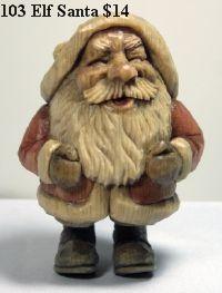 Santa Carvings by Wayne Shinlever