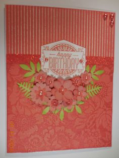 Sorbet August Stamp of the Month by Dona Vogt