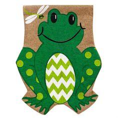 Garden Flag Burlap Frog Size: 12.5 x 0.25 x 18