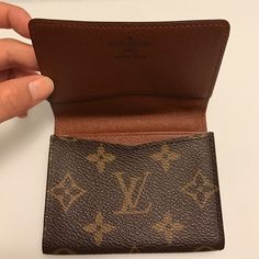 Louis Vuitton card case Preloved authentic Louis Vuitton monogram card case. Has a thin pocket on the flap to place a card or two and has 2 pockets on the main side. Total 3 pockets to keep things organized. This is a perfect case to place your business cards or your credit cards organized. Has little white marks on the 6th photo but very minor. Still has a lot of life left and in good condition. Comes with no box and no dust bag. Code is CA1023 Louis Vuitton Other