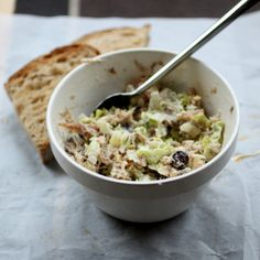 Chunky smoked mackerel pâté is a great simple small treat to enjoy with some roasted bread!