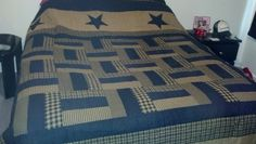 Black and Tan quilt!