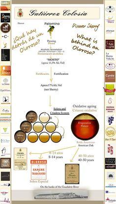 Una interesante #Infografia sobre la elaboración del #vino de #Jerez Making of sherry