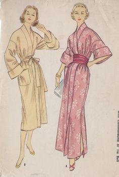 Vintage 1950's Misses' Side Drape Peplum Dress Pattern, Long Or Cap Sleeves, Simplicity 2100