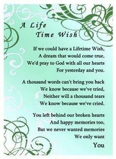 A Life Time Wish