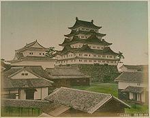 Nagoya Castle ( Built in 1612 by Ieyasu Tokugawa ) in 1880 / 明治十一年 名古屋城