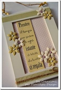idea for a frame ♥ - - Easy Paper Crafts, Church Crafts, Frame Crafts, Big Shot, Decoration, Canvas Frame, Decoupage, Scrapbook, Projects