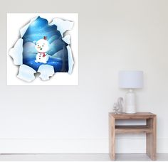 'Tear It! ~ Snowbaby Line' Poster by We ~ Ivy Art Prints For Home, Presents For Friends, My Themes, Website Themes, Good Cause, Clean Design, Art Boards, Ivy, Snowman