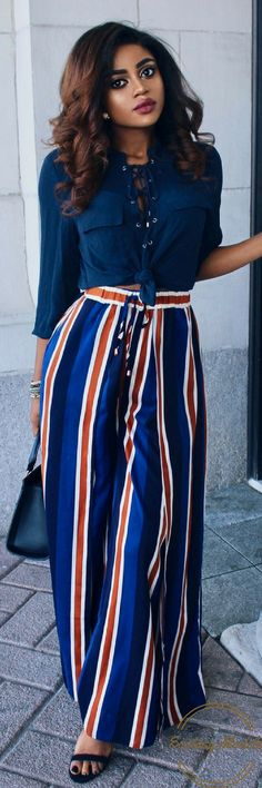 Wide Leg Pants // Fashion Look by Barbra Ray