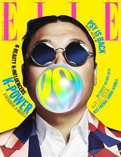 23517756280 PSY is Featured Inside the Cover of Elle Magazine