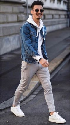 Casual street style outfit for men. Casual street style outfit for men. Casual street style outfit for men. Casual Street Style, Italian Street Style, European Street Style, Style Casual, Men Casual, Men's Style, Trendy Mens Fashion, Stylish Men, Urban Fashion