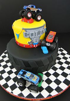 New Monster Truck Birthday Party Ideas Cake Friends 68 Ideas Monster Jam Cake, Monster Truck Birthday, Monster Trucks, 6th Birthday Parties, Cake Birthday, Birthday Ideas, Bithday Cake, Birthday Stuff, Blaze Cakes